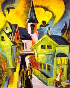 Ernst Ludwig Kirchner (1880-1938) - Königstein with Red Church