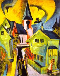 Ernst Ludwig Kirchner (1880-1938) - Königstein with Red Church