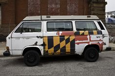 "patgavin: ""Maryland flag VW Vanagon, Druid Hill Ave, Baltimore, Md """