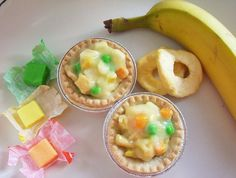 April Fools Day funny dessert to make everyone giggle.  This from a Kid friendly website....it does take a little bit of time to hand make the veggies but its oh so worth it!!! Makes 6 small pies.