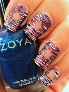 Fanbrush 4th of July Nails!