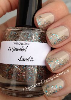 Crystal's Crazy Combos: Not Too Polished Bone with Windestine Jeweled Sand