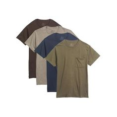 a9656a4b6 Fruit of the Loom Big Men's Dual Defense Assorted Pocket T-Shirts Extended  Sizes, 4 Pack
