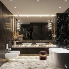 [New] The 10 All-Time Best Home Decor (Right Now) - Apartment by Elisa Arp - . So fresh and so clean Designed by one of my all time favourite Washroom Design, Bathroom Design Luxury, Toilet Design, Interior Flat, Decor Interior Design, Luxury Interior, Bathroom Goals, Bathroom Ideas, Dream Bathrooms