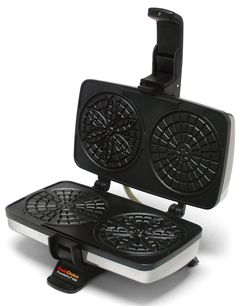 Chef'schoice Pizzellepro 834 Express Electric Pizzelle Maker Black/stainless Steel - Bake an old world favorite right in your own home - and do it faster. The Chef'sChoice PizzellePro bakes two 4 pizzelles in less than 30 seconds. Pizzelle Maker, Pizzelle Cookies, Cookies Et Biscuits, Belgian Waffle Maker, Belgian Waffles, Commercial Waffle Maker, Waffle Maker Reviews, Chef's Choice, Thing 1