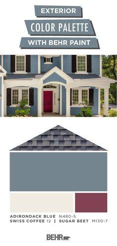 Painted Pot Herb Garden Exterior Paint Colors For House House Exterior Blue Exterior Color Palette