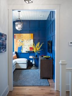 """Shaw Floors English Royal Navy """"Paddock Houndstooth"""" on the floor in the Kid's Den Pictures From HGTV Smart Home 2014 on HGTV. Notice that impact?"""