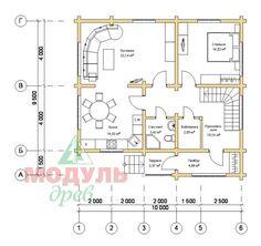 План дома Ладога (планировка 1 этажа)