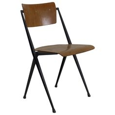 Rietveld Pyramid Chair for Ahrend de Cirkel Holland   From a unique collection of antique and modern chairs at https://www.1stdibs.com/furniture/seating/chairs/