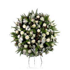 Coroa Fúnebre Branca   Império da Flor Funeral, Dandelion, Garden, Empire Store, Roses, Plants, Flowers, Garten, Dandelions