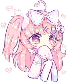Art trade with mufflins Ahh, I love your oc's palette *u* Hope you like it! Their part : Chibi commission discount) Dibujos Anime Chibi, Cute Anime Chibi, Manga Cute, Anime Girl Cute, Anime Neko, Anime Art Girl, Manga Girl, Arte Do Kawaii, Manga Kawaii