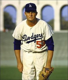 Don Drysdale, Los Angeles Dodgers at the Los Angeles Coliseum.
