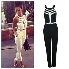 a8ab19c08d Mesh Insert Jumpsuit- Online Fashion Boutique