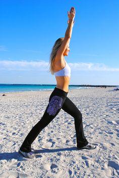 Paisley HAMSA Yoga Pant by GrizzyLove on Etsy