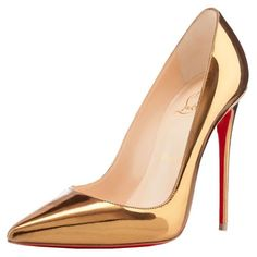 39a08645 Zapatos, Comprar, Zapatos De Suela Roja, Bombas De Oro, Zapatillas Peep Toe