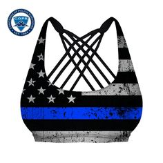 Thin Blue Line Vitality Sports Bra (Police Tribute) LIMITED TIME!