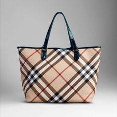 Burberry Leather Tote Sale