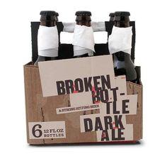Cracked Flask Branding - Broken Bottle Beer Packaging Will Start a Bar Fight (GALLERY)