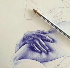 Realistic Drawings, Cool Drawings, Ballpen Drawing, Watercolor Portrait Tutorial, Stylo Art, Art Alevel, Ballpoint Pen Drawing, Human Body Art, Anatomy Art