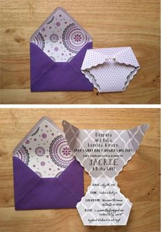 Blue baby shower invitation - with funny letter