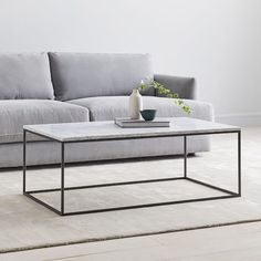 West Elm offers modern furniture and home decor featuring inspiring designs and colors. Create a stylish space with home accessories from West Elm. Pedestal Coffee Table, Coffee Table Rectangle, Coffee Table With Storage, Modern Coffee Tables, Marble Coffe Table, Coffee Table West Elm, Home Design, Interior Design, Reclaimed Wood Coffee Table