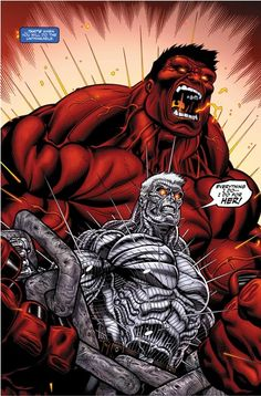 Cable v Red Hulk by Ed McGuinness (Marvel comics) Comics Anime, Marvel Comics Art, Hulk Marvel, Marvel Comic Books, Fun Comics, Comic Book Heroes, Marvel Heroes, Comic Books Art, Avengers