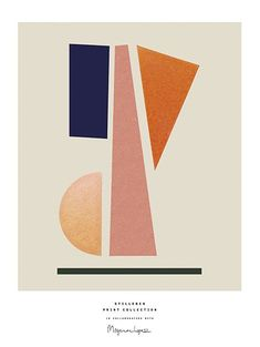 Poster A4 - Balance, grafisk arbejde på print af Berit Mogensen Lopez