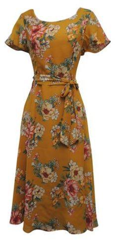 New Ladies Retro Wartime Vintage Style Floral Tea Dress 1950s Fashion Dresses, 1930s Fashion, Vintage Style Dresses, Vintage Outfits, Vintage Fashion, Fashion Outfits, Floral Fashion, Fashion 2018, Ladies Fashion