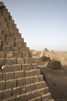 The pyramids of Meroe, Sudan's most popular tourist attraction, Bagrawiyah