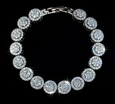 2mm .03ct Diamond Platinum over Sterling Silver Bracelet