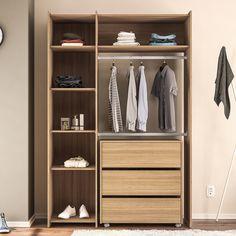 O closet é ideal para quem gosta de um toque diferenciado e moderno no quarto. :D