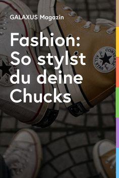 Der trendige Turnschuh ist in Sachen Dresscode nicht nur vielseitig einsetzbar, sondern in vielen Ausführungen erhältlich. Je klassischer die Farbe, desto einfacher lässt er sich mit deiner Garderobe kombinieren. Wir zeigen dir, wie du deine Chucks mit unterschiedlichen Outfits und Styles kombinieren kannst. Dress Code, Chuck Taylors, All Star, Star Wars, Anime Wolf, Lifestyle, Stars, Outfits, Fashion