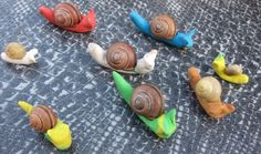 snail shells and plasticine
