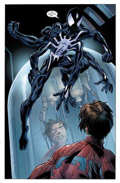"""Ultimate Tarantula, clone of Spider-Man by Mark Bagley & John Dell "" Marvel Venom, Marvel Dc Comics, Marvel Heroes, Cosmic Comics, Amazing Spiderman, Plantas Versus Zombies, Spiderman Pictures, Scream, Mark Bagley"