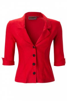 Vixen - Ruby Blouse in Vintage Red