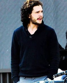 Kit Harington - love his curly hair