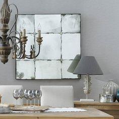 Espejo con efecto envejecido Al. 100 cm ANGELINA