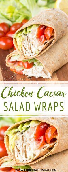 Chicken Caesar Salad Wraps   Chicken Recipes   Lunch Recipes   Quick Lunch Ideas   Caesar Salad Recipes   Cookin With Mima   #chickencaesarsaladwraps #lunch #quicklunchideas #cookinwithmima