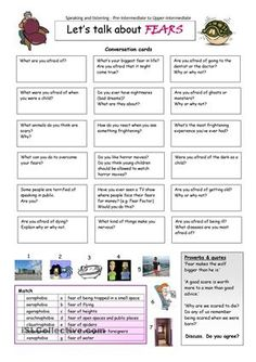 This worksheet contains 18 conversation cards, a quotes box and a matching exercise. The cards can be cut out if desired and be used as conversation questions. Can be used with both young learners and adults (pre-intermediate to advanced). - ESL worksheets