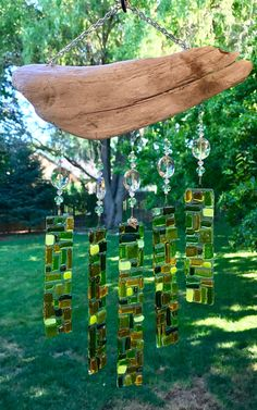 Hand drawn Holly tree in Wooden Block Slumped Glass, Fused Glass Art, Stained Glass Art, Wine Glass, Glass Wall Lights, Glass Wall Art, Glass Garden, Garden Art, Garden Stakes