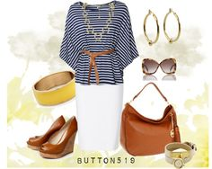 """""""In Love With Stripes"""" by button519 ❤ liked on Polyvore"""
