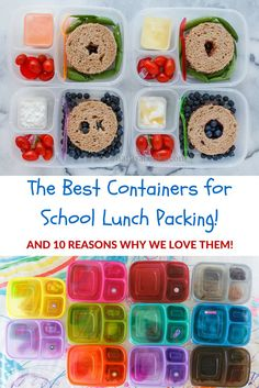 The best containers for school lunches! #easylunchboxes