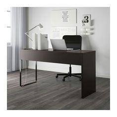 ikea micke desk blackbrown itu0027s easy to keep cords and cables out of sight but close at hand with the cable outlet at the backyou can mount the legs