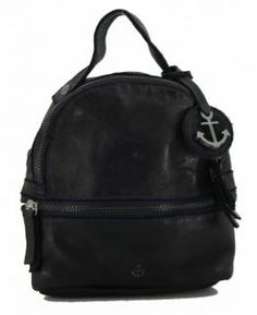 !!!Lederrucksack Harbour2nd Ash black Sissy Anchorlove Vintage Stil, Rind, Backpacks, Bags, Fashion, Handbags, Moda, Fashion Styles, Backpack