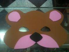 Antifaz de oso de goma eva