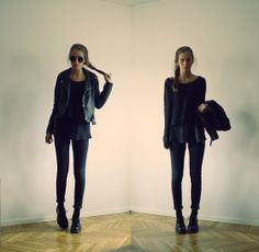 Red Label Knitted Sweater, See Through Tanktop, Cheap Monday Black Jeans, Dr. Martens Low Dr Martens, Leather Jacket, H&M Big Round Glasses