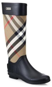Burberry Clemence Check Canvas Rain Boots - A classic weather essential,  pairing the iconic Burberry 6d60ab762fe