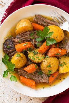 Crock Pot Roast Beef Recipe With Potatoes And Carrots.Instant Pot 3 Ingredient Rump Roast 365 Days Of Slow . The Best Crock Pot Roast Slow Cooker Pot Roast . Crock Pot Roast With Vegetables Yummy Healthy Easy. Home and Family Roast Beef Recipes, Crockpot Recipes, Cooking Recipes, Healthy Recipes, Healthy Food, Roasted Potatoes And Carrots, Perfect Pot Roast, Dinner Entrees, Dinner Recipes