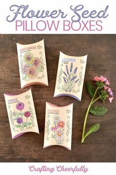 Seed Craft, Vintage Seed Packets, Cute Box, Pillow Box, Zinnias, Flower Seeds, Jelly Beans, Diy Flowers, Spring Time
