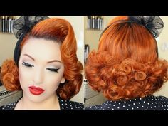Classic Pinup Girl Hair Tutorial - YouTube - PinUp Doll Ashley Marie